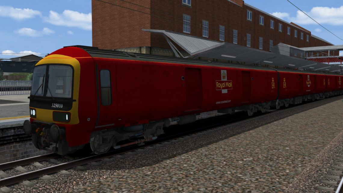 Class 325 EMU Royal Mail Plain Red