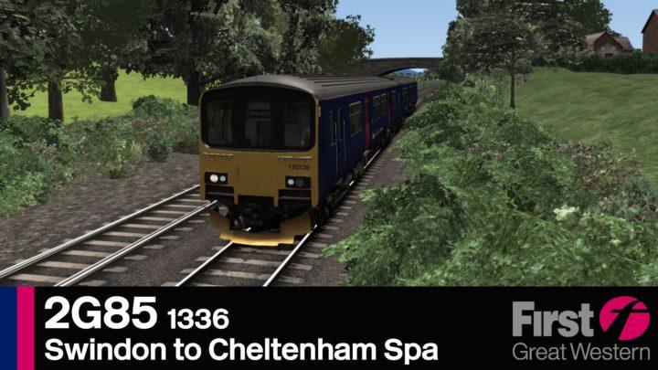 2G85 1336 Swindon to Cheltenham Spa