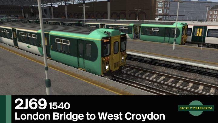 2J69 1540 London Bridge to West Croydon