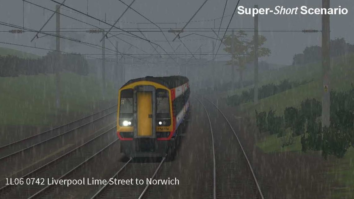 1L06 0742 Liverpool Lime Street to Norwich