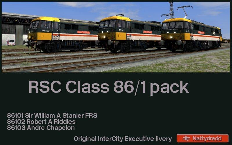 RSC Class 86 InterCity Executive liveried 86101 – 86102 – 86103.