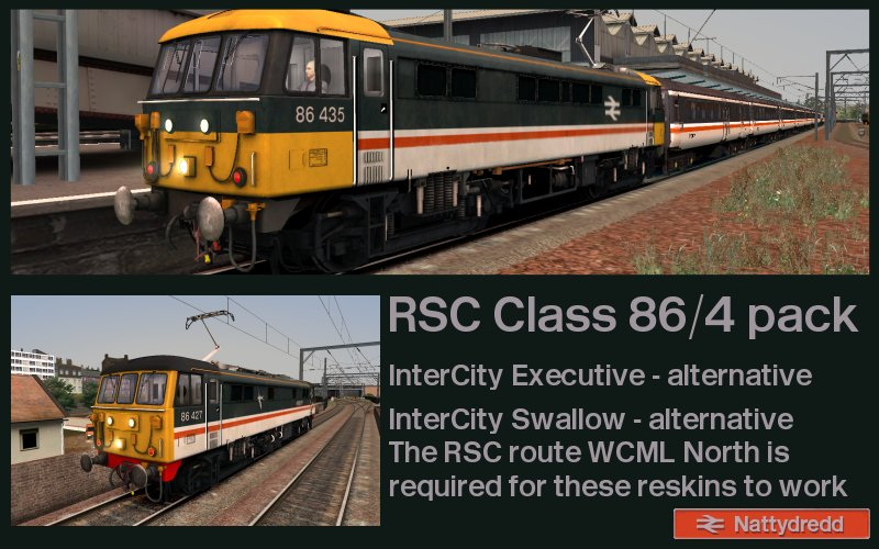 InterCity Swallow and Executive variants for the WCML north Class 86/4.