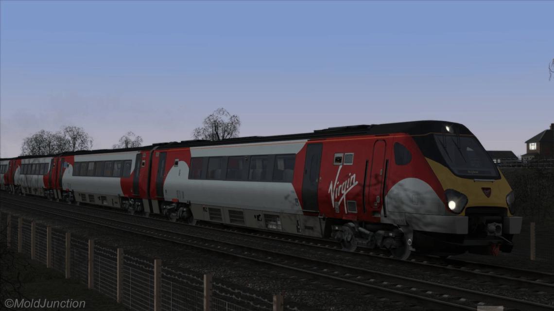 "Class 221 Virgin Trains White Silk Livery ""221101"""