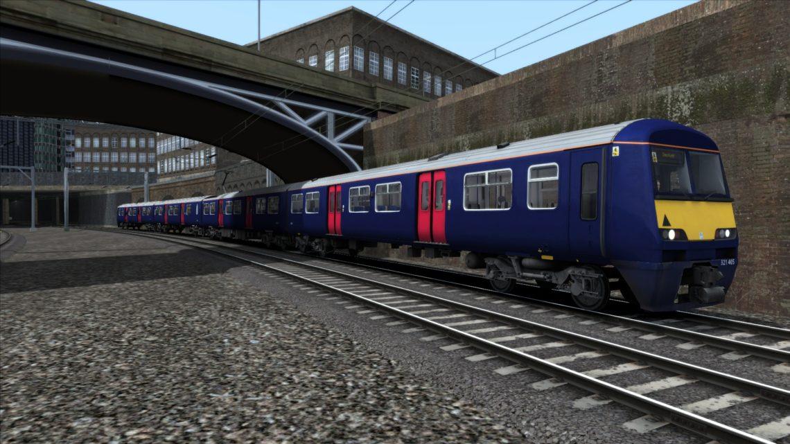 Class 321 Greater Anglia Plain Purple