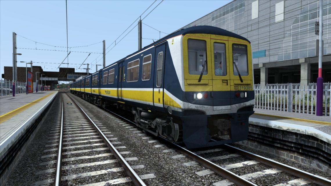 Class 319 Thameslink Blue Yellow