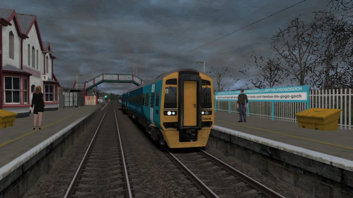 1D14 1308 Birmingham to Holyhead – Class 158