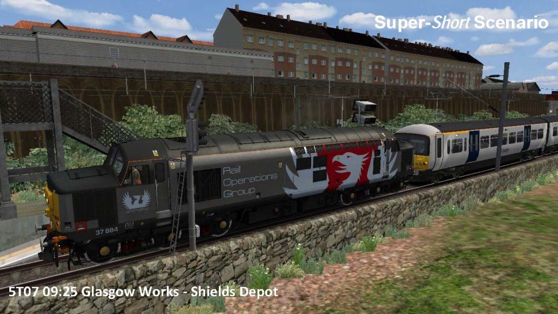 5T07 09:25 Glasgow Works to Shields Depot