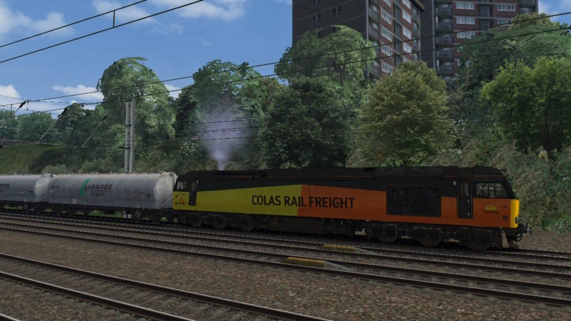 650M 2120 Oxwellmains Lafarge Colas to West Thurrock Sidings