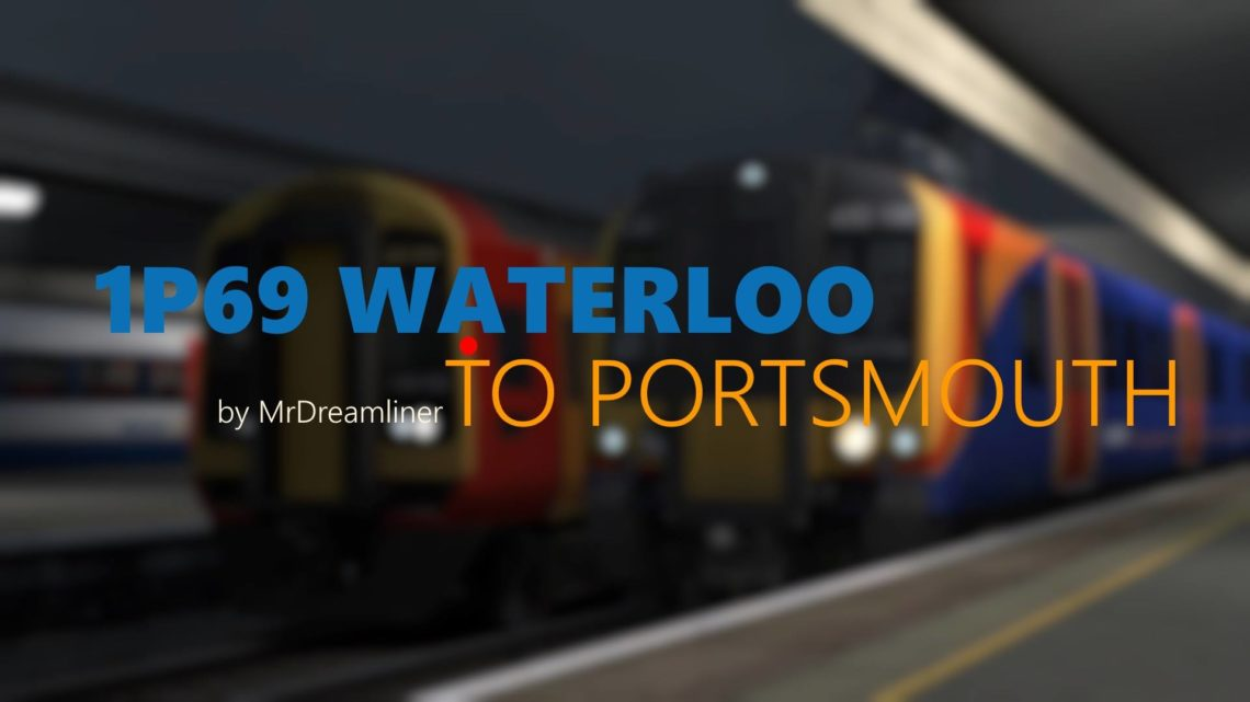 1P69 2100 London Waterloo to Portsmouth Harbour
