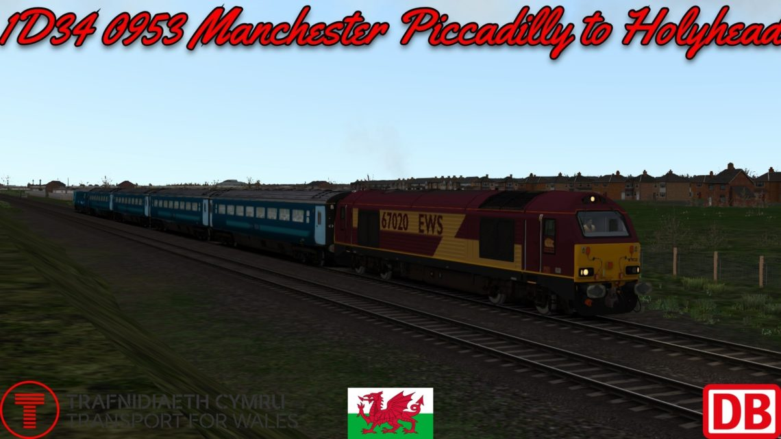 1D34 0953 Manchester Piccadilly to Holyhead