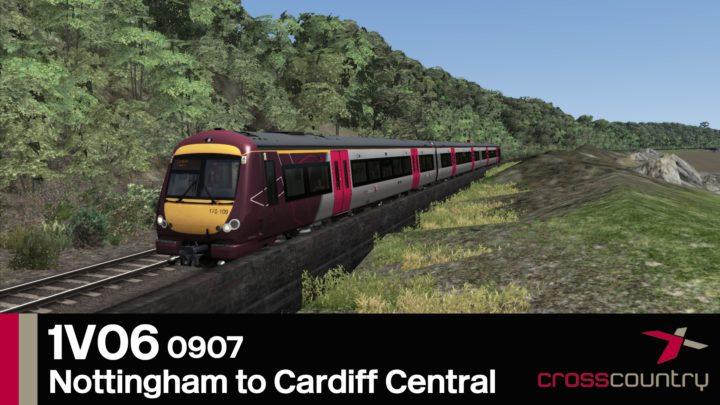 1V06 0907 Nottingham to Cardiff Central