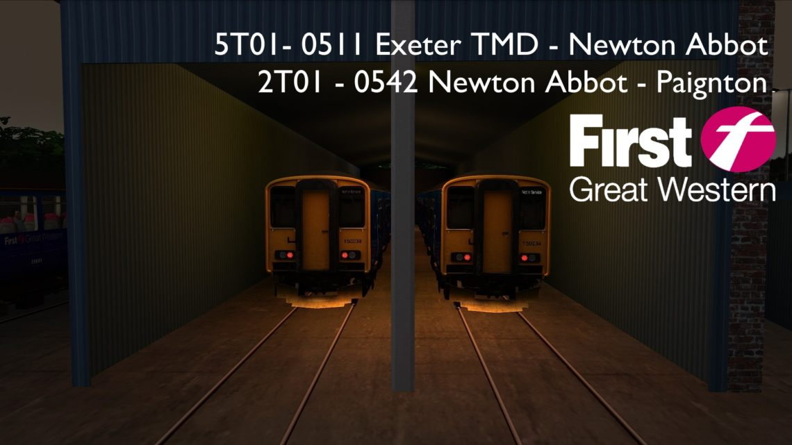 5T01/2T01: Exeter TMD – Newton Abbot – Paignton [Class 150/2]