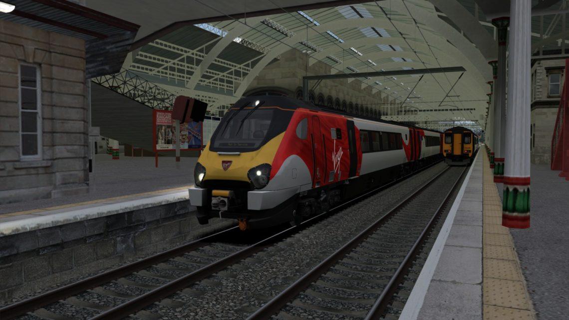1C93 1027 Crewe to Lancaster & 9A53 1158 Lancaster to London Euston