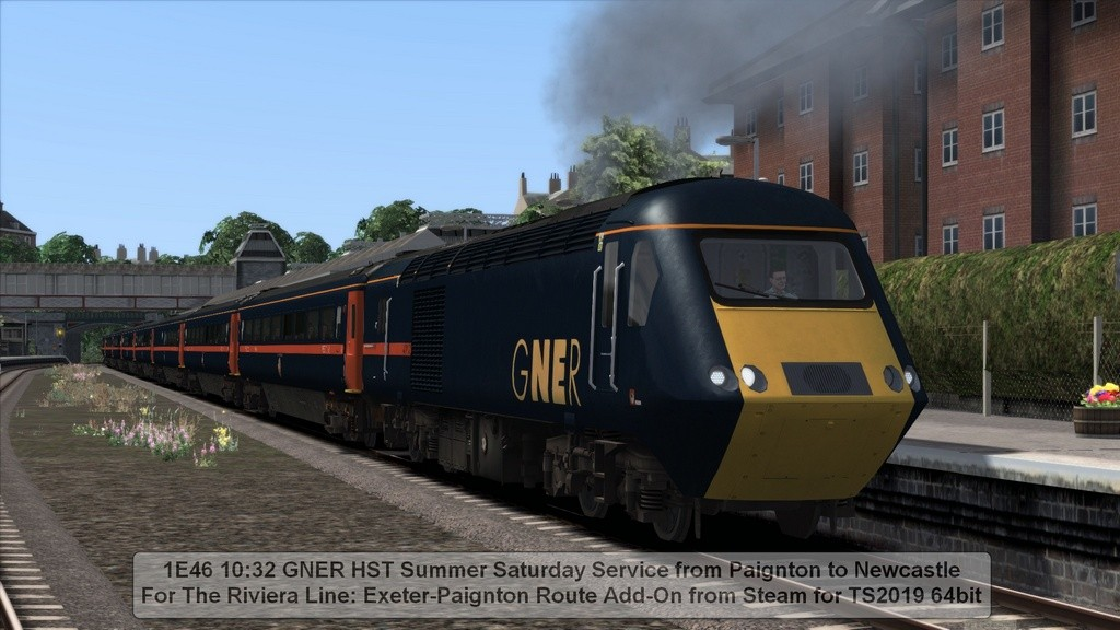 1E46 10:32 GNER HST Summer Saturday 'Hire-in' from Paignton to Newcastle