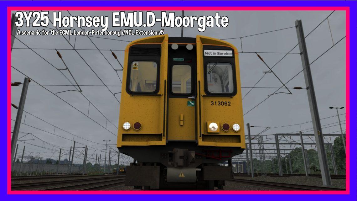 3Y25 Hornsey EMU.D – Moorgate