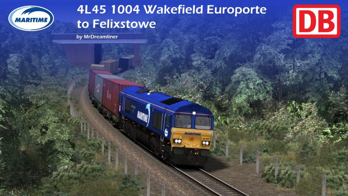4L45 1004 Wakefield Europorte to Felixstowe