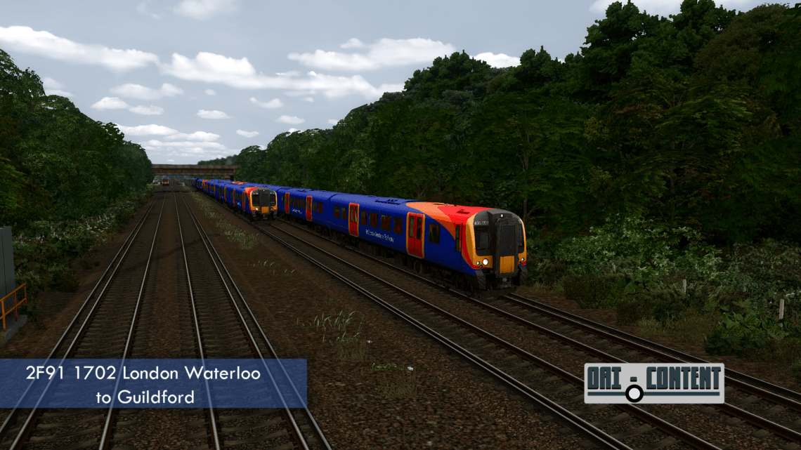 2F91 1702 London Waterloo to Guildford