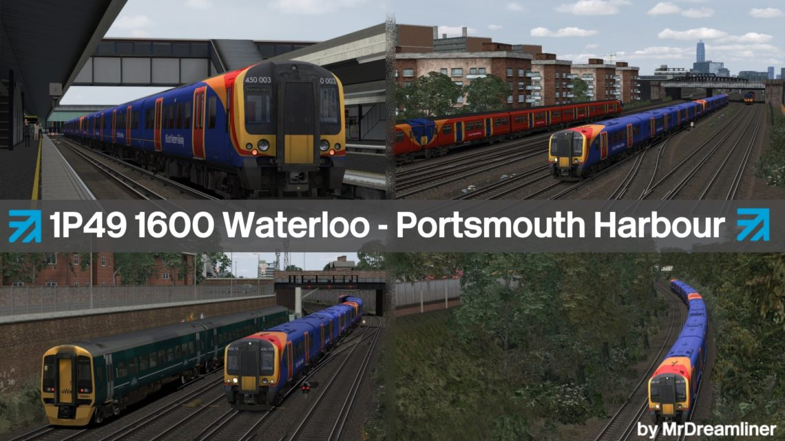 1P49 1600 London Waterloo to Portsmouth Harbour