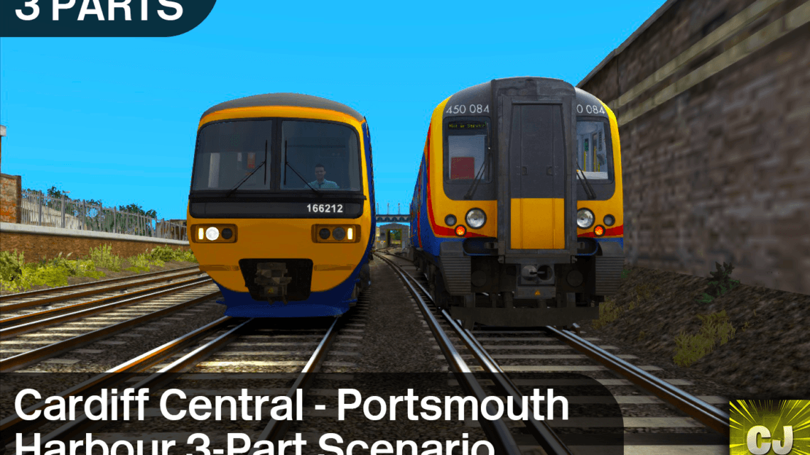 1F07 0830 Cardiff Central – Portsmouth Harbour 3-Part Scenario