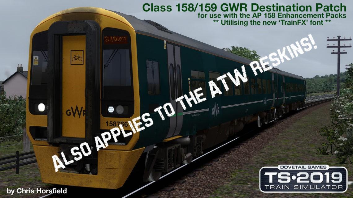 Class 158 ATW/GWR Destination Patch