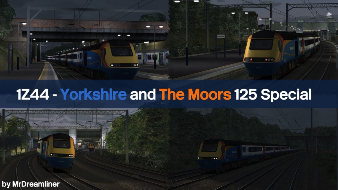 1Z44 1635 Scarborough to St Pancras International – Yorkshire and The Moors 125 Special