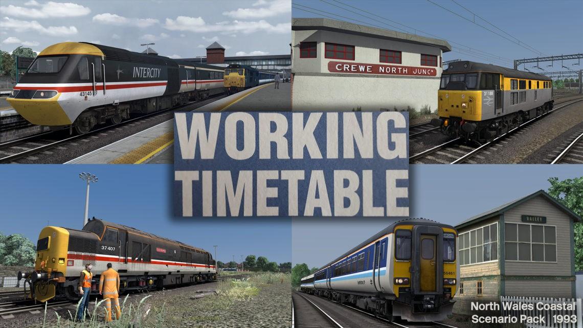WTT Scenarios – Working Timetable Scenarios – Scenario Pack 1 North Wales Coast 1993