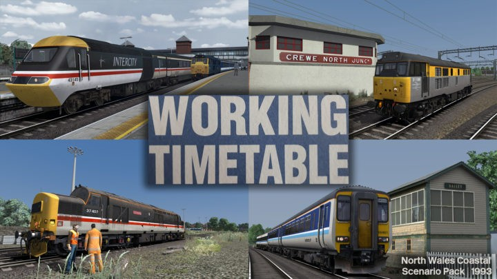 WTT Scenarios – Working Timetable Scenarios – Scenario Pack 1 North Wales Coast 1993