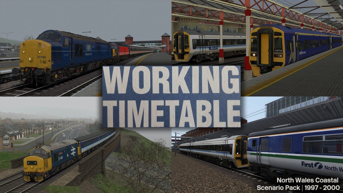 WTT Scenarios – Working Timetable Scenarios – Scenario Pack 2 North Wales Coast 1997 – 2000