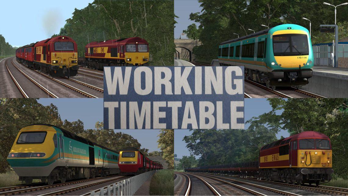 WTT Scenarios – Working Timetable Scenarios – Scenario Pack 3 Midland Mainline Derby to Sheffield 2000