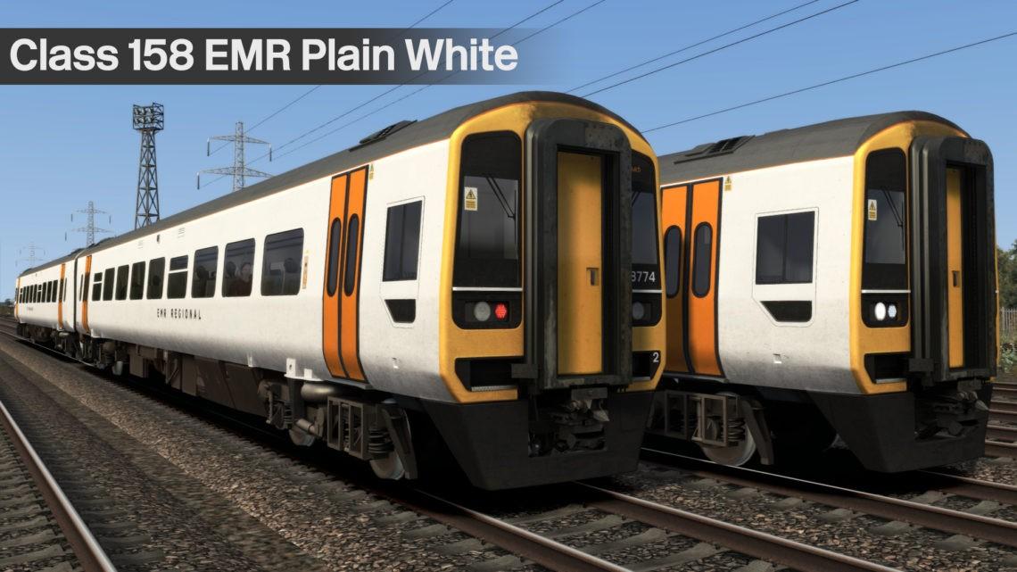 Class 158 – EMR Plain White
