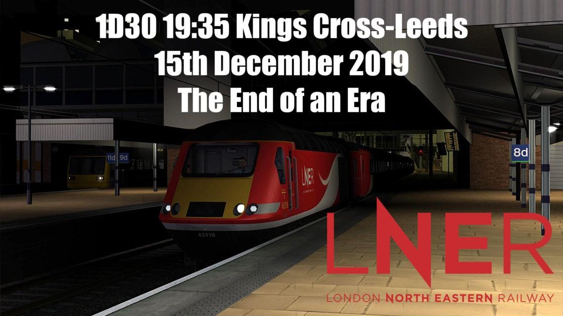 (2019): 1D30 19:35 Kings Cross-Leeds 15/12/19