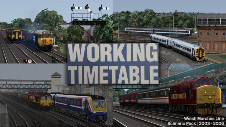 WTT Scenarios – Working Timetable Scenarios – Scenario Pack 4 – Welsh Marches Line 2003 – 2006