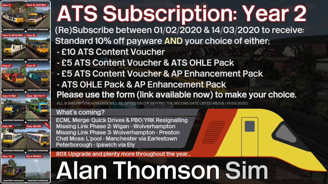 Alan Thomson Simulation – Subscription giveaway