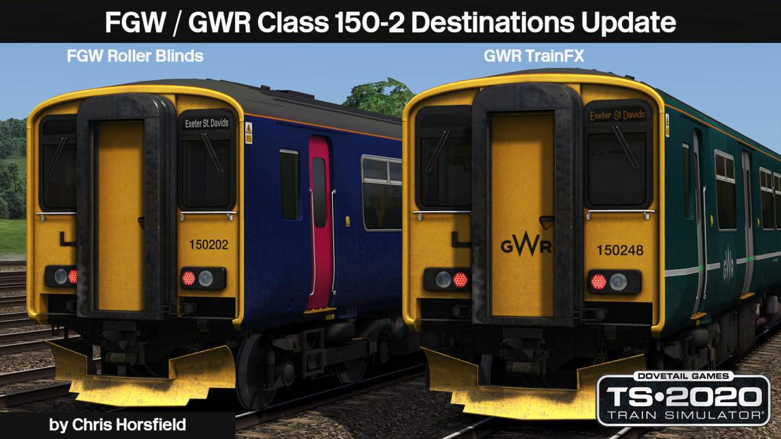 AP Class 150/2 FGW/GWR Destinations