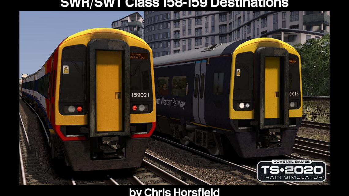 Class 158/159 SWR-SWT Destinations