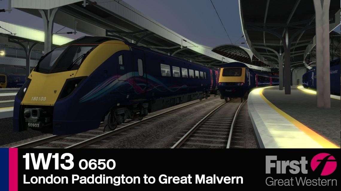 1W13 0650 London Paddington to Great Malvern
