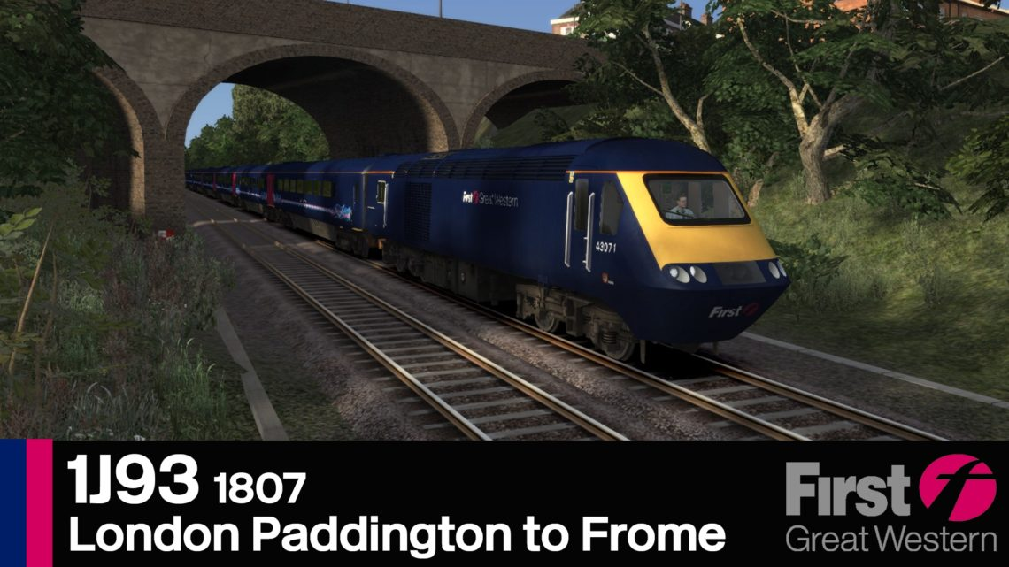 1J93 1807 London Paddington to Frome