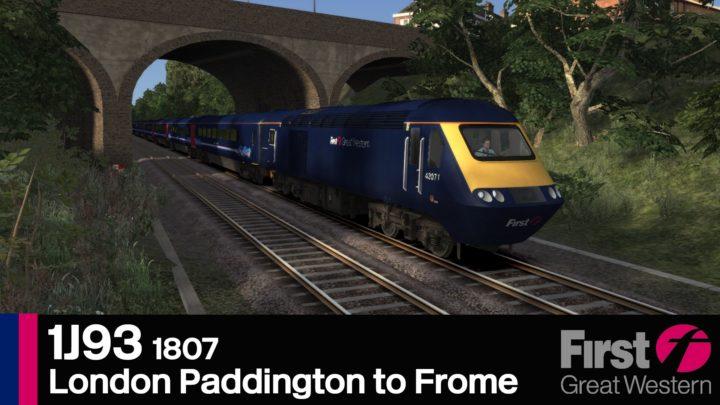 1J93 1807 London Paddington to Frome