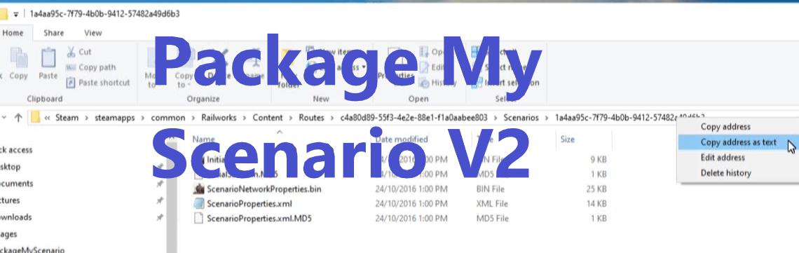 Package My Scenario V2 script
