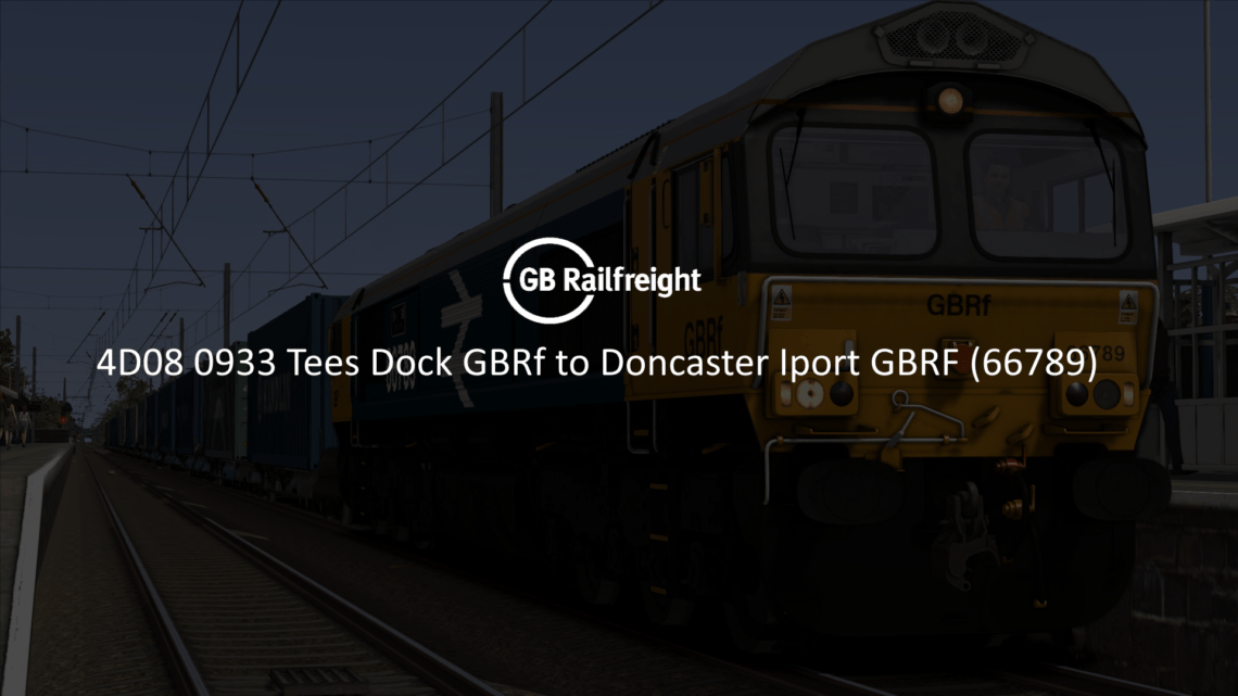 4D08 0933 Tees Dock GBRf to Doncaster Iport GBRF (66789)