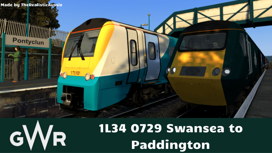 1L34 0729 Swansea to Paddington