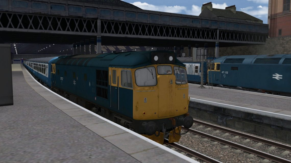 Edinburgh/Glasgow BR Blue Class 27 Push Pull Express Services