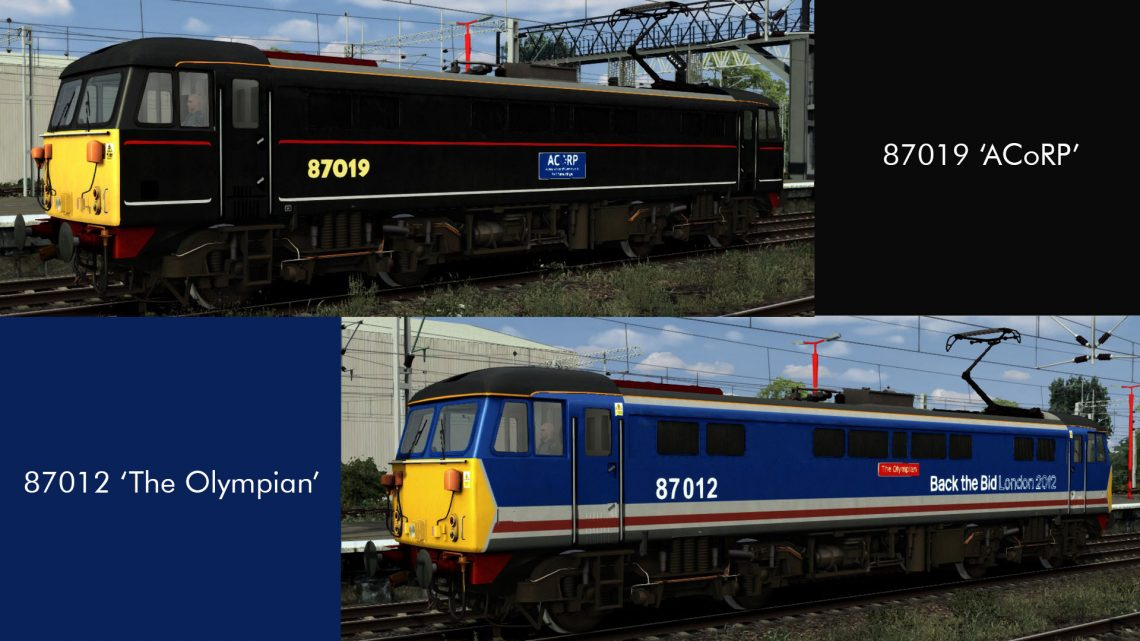 Class 87 2005 Promotional Liveries: NSE 'Back the Bid' and LNWR Black
