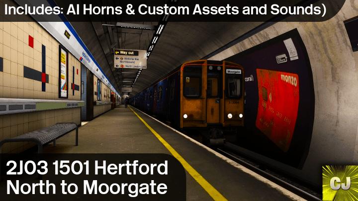 2J03 1501 Hertford North to Moorgate