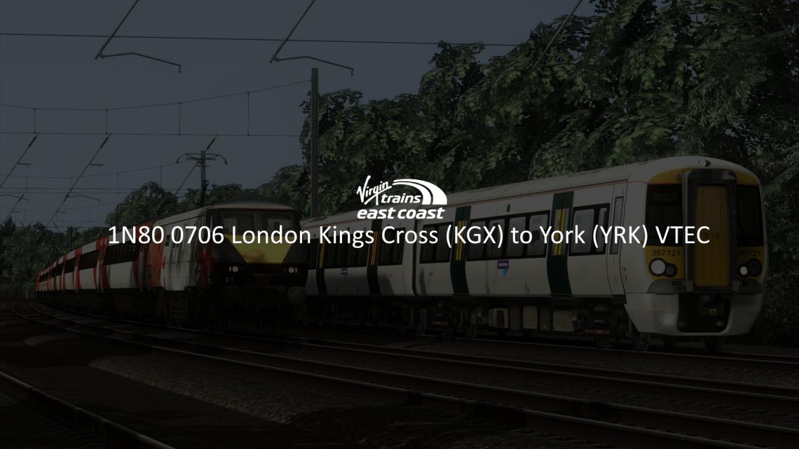 Version 1: 1N80 0706 London Kings Cross to York [UPDATED!!]