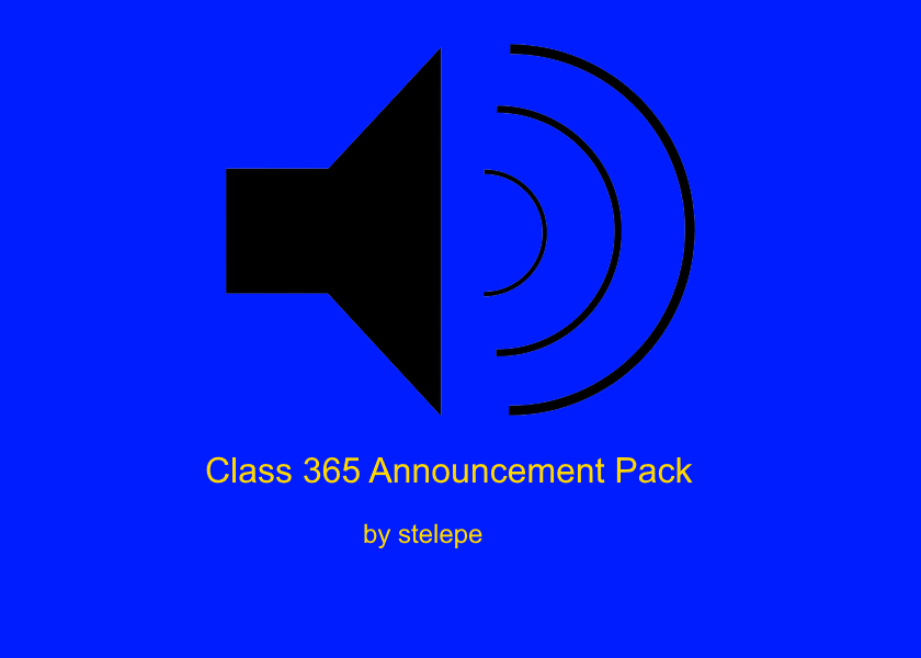 Class 365 Announcement Pack v1.0
