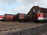 London Underground and Metropolitan Railway liveried Mk1 and Mk2 coaches