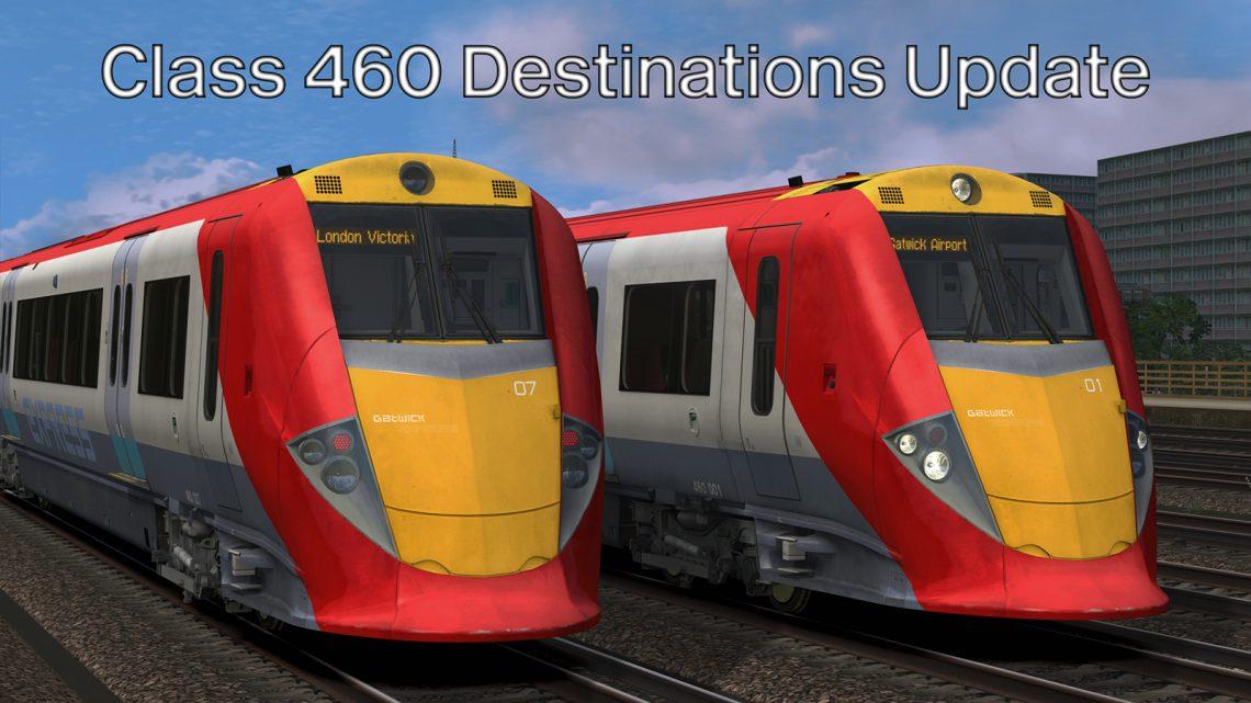Class 460 Destinations Update