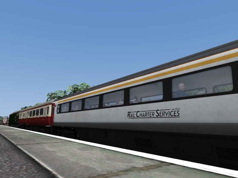 Ex-Greater Anglia Mk3, 'Rail Charter Services Limited' Branding