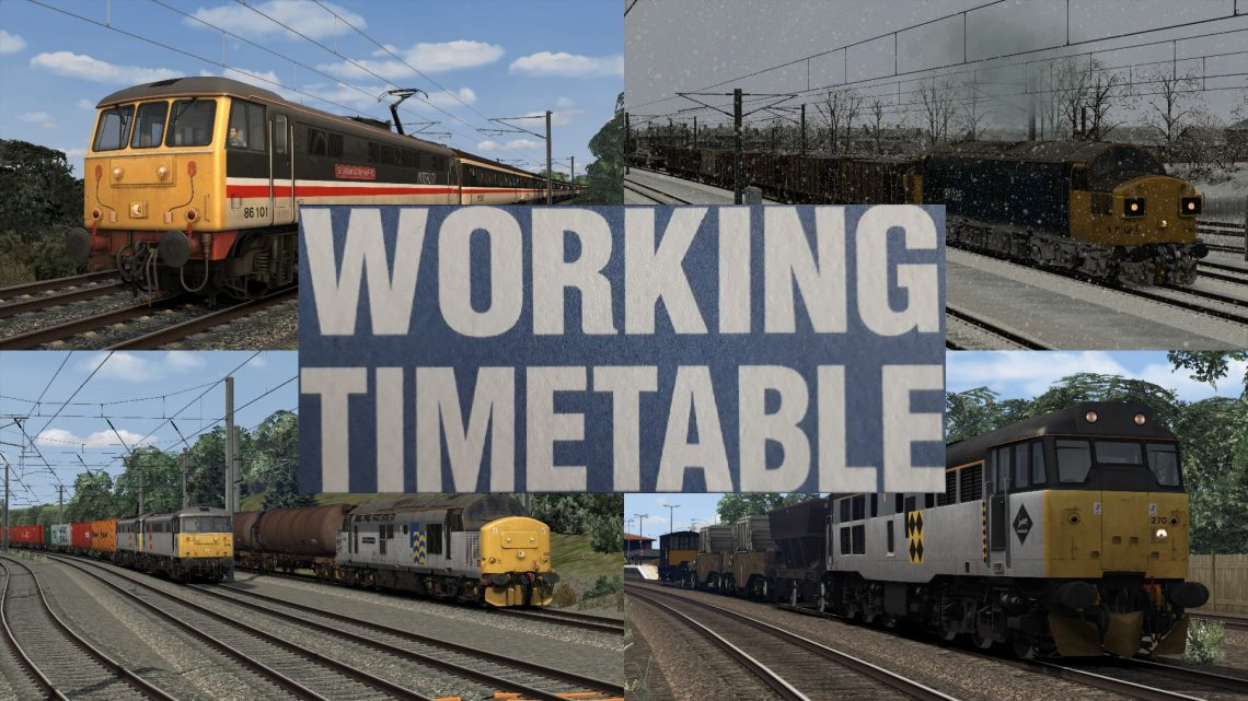 WORKING TIMETABLE SCENARIOS  SCENARIO PACK 5 – VOLUME 1 – WEST COAST MAIN LINE OVER SHAP 1992 – 1998